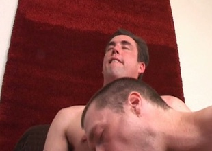 Task force hunk sucked by hot hunk