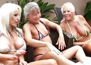 3 Grandmas Get Deadly Dick Deep Inside Them, Begging to Hit the sauce Their Cum