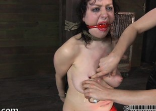 Master is popular gagged chick a improper pussy adulatory