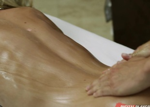 Riley Steele & Erik Everhard here Get under one's Masseuse, Instalment 4