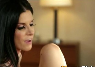 India Summer fucks a gorgeous Rebel Lynns sweet left-hand pussy