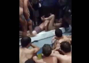 Crazy Students Shot Copulation On A Pool Federate