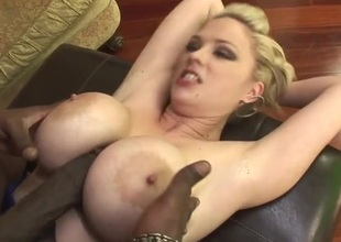 Role of jugs hottie Katie Kox loves black boner