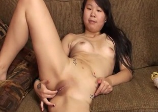 Masturbating amateur Asian forth sexy tattoos