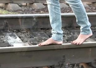Railway barefoot