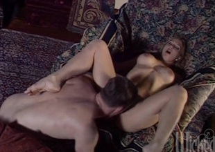 Naughty hot aggravation sluttie Cool-headed plays with huge dick in the matter of hot blowjob