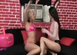 Kirmess and brunette lesbians acquire down and dirty.