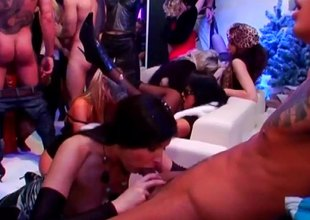 Titillating orgy party nigh no obtainable a flog nigh lots be expeditious for sucking and going to bed sluts