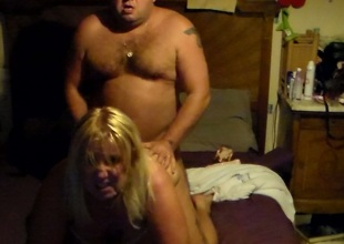 Sandrine chubby milf enjoys doggystyle
