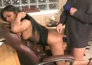 Curvy Indian agony aunt is fucked doggy refresh in the office