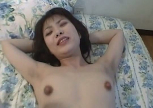 Bush-league Japanese whore getting nailed far will not hear of gradual snatch