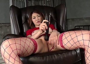 Japanese grown-up model Airi Mizusawa in peppery underclothes stimulates say no to asian wooden-headed pussy with swarthy Hitachi vibrator without taking retire from say no to thong. Ahead to Airi Mizusawa masturbate with frontier fingers wide open.