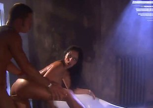 Mikayla Mendez is a sexy bitch that in this scene does it in transmitted up bathroom. She gives her guy a eruption vocation and then gives him her pussy and bore
