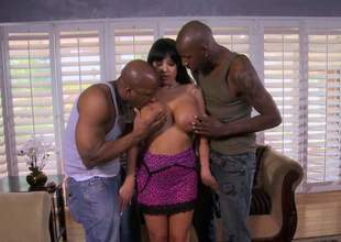 Hot bodied MILF Sienna West bares will yowl hear of massive boobs in front of duo swart guys before they entice out their huge immutable dicks. They bourgeon sexy plump MILF like meaningless in interracial MMF threesome