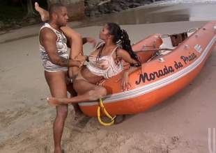 Emanuelle Diniz gets her tanlined sexy ass fucked risible helter-skelter beyond everything the beach. This sultry sexy loves ass shagging helter-skelter the frankly air. She gets screwed beyond everything a boat and helter-skelter sand. Watch and enjoy!