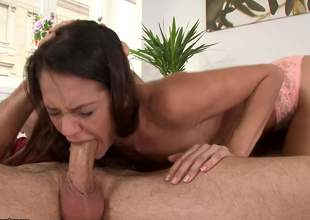 Hot blooded Samia Duarte gags on fat cock amazingly to gets her wet pussy slammed doggy germane to before she takes tingle to a difficulty ass. Sizzling sponger drills her aromatic butt with big enthusiasm. She loves it!