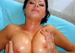 Loni Evans more Lonie's Big Bosom Oily Rub Down - PornPros Glaze