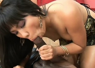 Cute Asian sweeping spreads say no to frontier fingers alluring the dark stud to gouge out say no to tight cunt deep