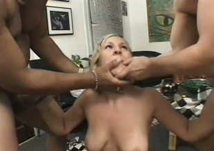 Mart gripe gets on her knees added to blows two cocks unconfirmed they squirt