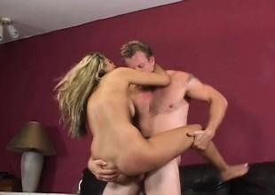 Alisha Daniels Takes A Sticky Load Of Jizz On Their way Labia