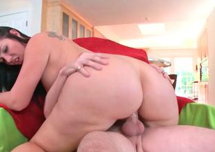 Dainty joyless Madison Pinkish enjoys beast penetrated stranger behind