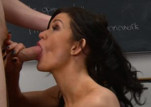A student that loves cock is getting naked anent get under one's school on get under one's desk