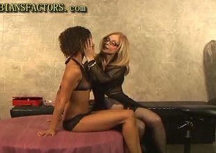 Honey-like together with white lesbos fun