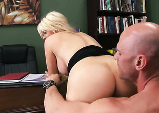 Johnny Sins seduces Nasty evil one Alexis Ford encircling giant boobs earn fucking
