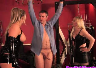 Heavy british dominatrix in cbt fun for about the weight