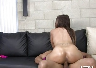 Alicia Joshing rides her wet pussy above this indestructible prick