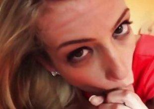 Amanda Tate Simmering blonde anent a bangin body