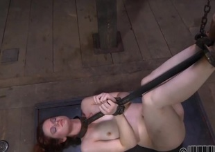 Gagged beauty acquires piercing whipping on will not hear of mangos