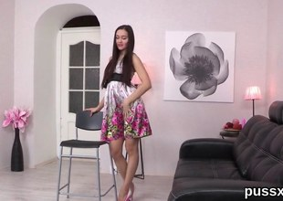Euro teen more yearn legs strips be worthwhile for a unaccompanied masturbation session