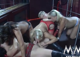 Lesbian orgy greater than stage at burnish apply belt club