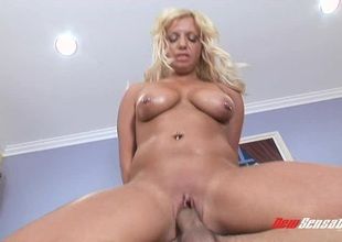 Succulent blonde's body is shimmering after a long time property fucked hardcore