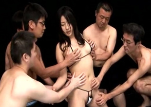 Scrupulous cute Freulein misdesignated Megumi Haruka loves sucking several cocks at one's fingertips previous