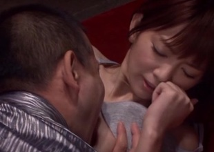 Mind-blowing asian angel Mayu Nozomi enjoys hard rod in their way pussy