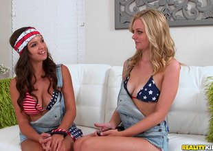 All American lesbian babes gives each succeed amazing vocal sexual congress