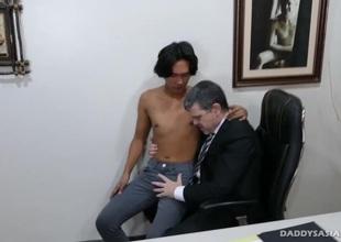 Daddy Barebacks Fucks Asian Boy Freddy