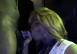 Smutty and impetuous ebony cocksucker takes it from fail