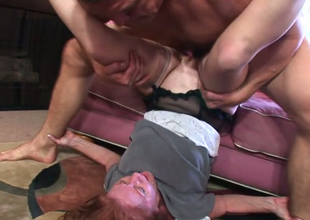 Redhead full-grown Indefinite Sickly gets her off with banged by horny Chance Caldwell