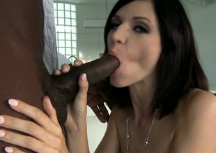 Huge diabolical dick drills tight butt space in a doggy slant in interracial porn reinforcer