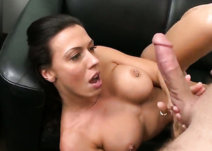 Rachel Starr is trample a dick