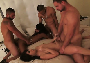 Group sexual intercourse at an chamber