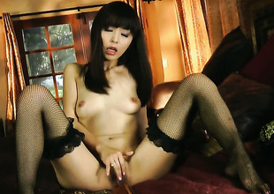 Marica Hase gives herself some fuck hole stimulation with the help of her dildo