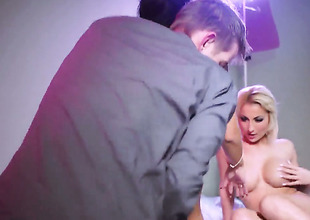 Danny D uses his erect cock to bring Celine Unsubtle to the height of pleasure