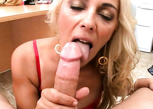 Blonde Jazella Moore gets her brashness stretched by thick sturdy worm of hot toff