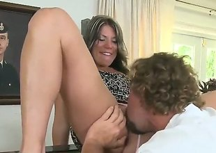 Blonde in succulent tushie and shaved bed out gets indiscretion fucked by hot fellow : Pornalized.com sexy videoclip