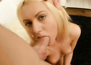 Blonde Vania has great cock sucking undergo and expands it here hard dicked profitability buddy