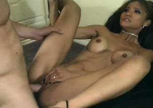 Asian chick opens her whole body be required of him and he fucks enveloping of her